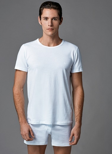 Dagi O Yaka T-Shirt 2'li Beyaz
